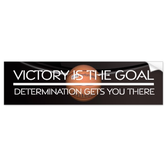 Basketball Victory Bumper Sticker
