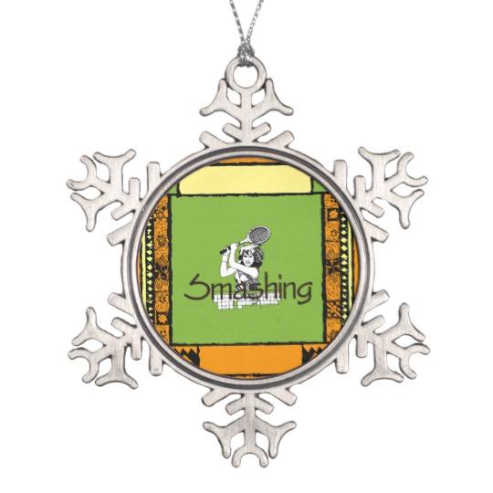Smashin Tennis Ornament